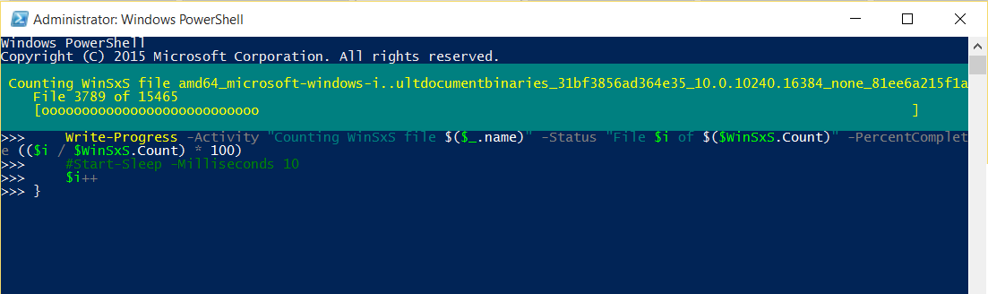 Using Write-Progress to provide feedback in Powershell