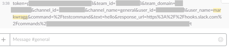 Example of returning the POST of a Slack Slash Command back to Slack to see what it looks like