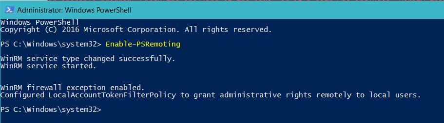 Enabling PowerShell Remoting