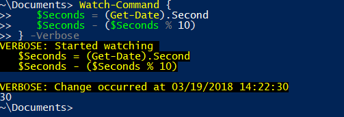 Watch-Command Example