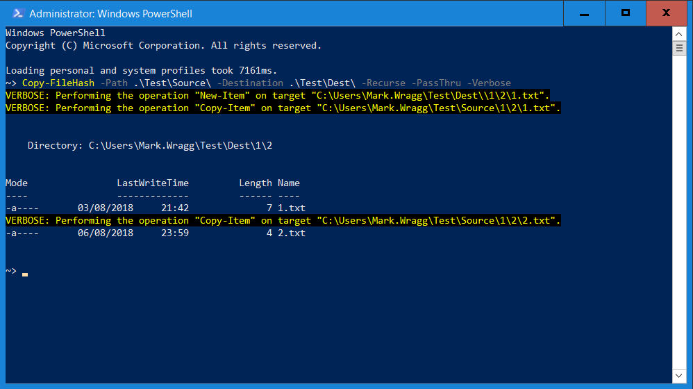 Copy files with hash difference via PowerShell